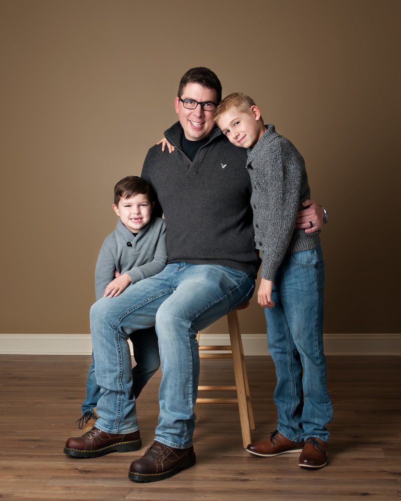 family pictures in the studio in lansing michigan