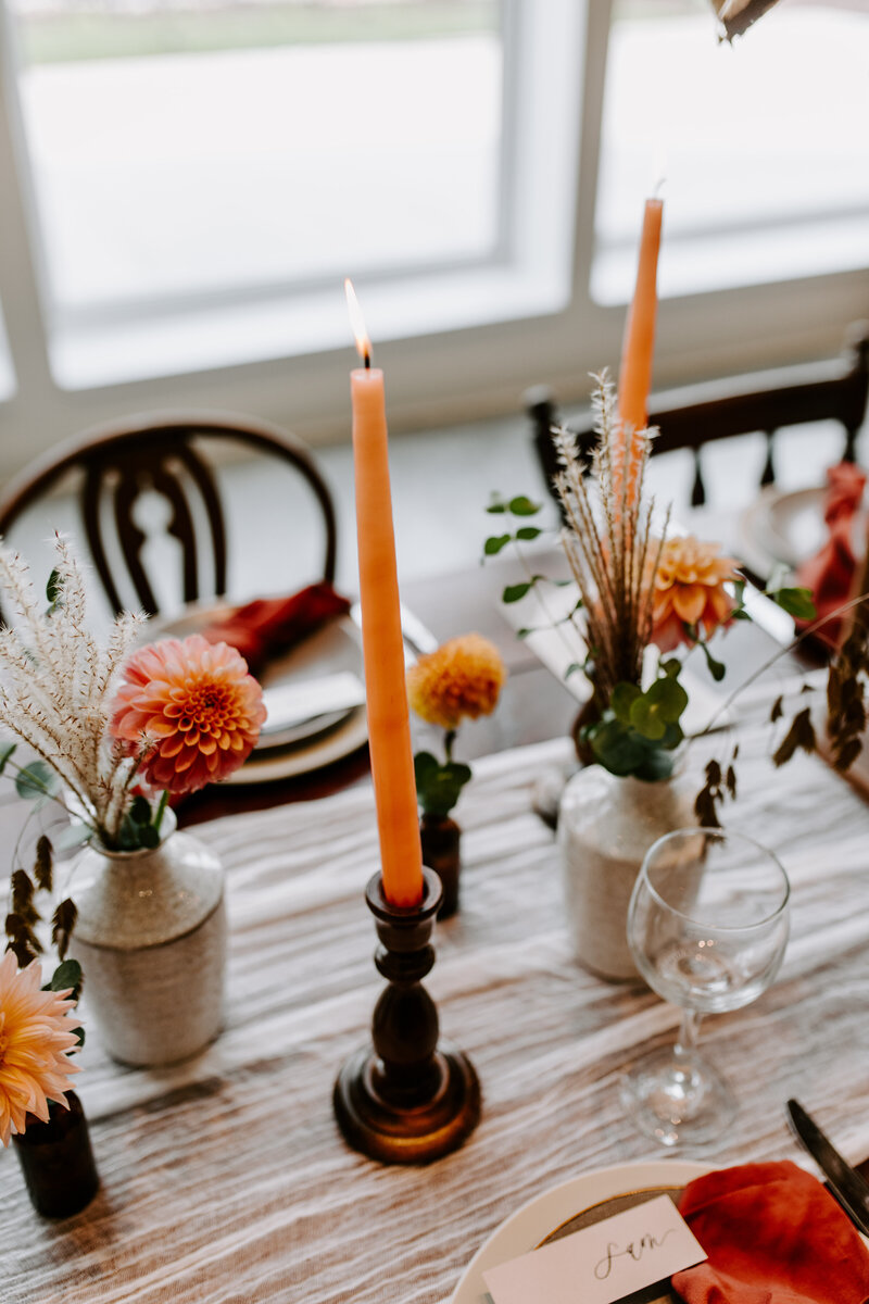 Moody Boho Bud Vase Tablescape at The Eloise