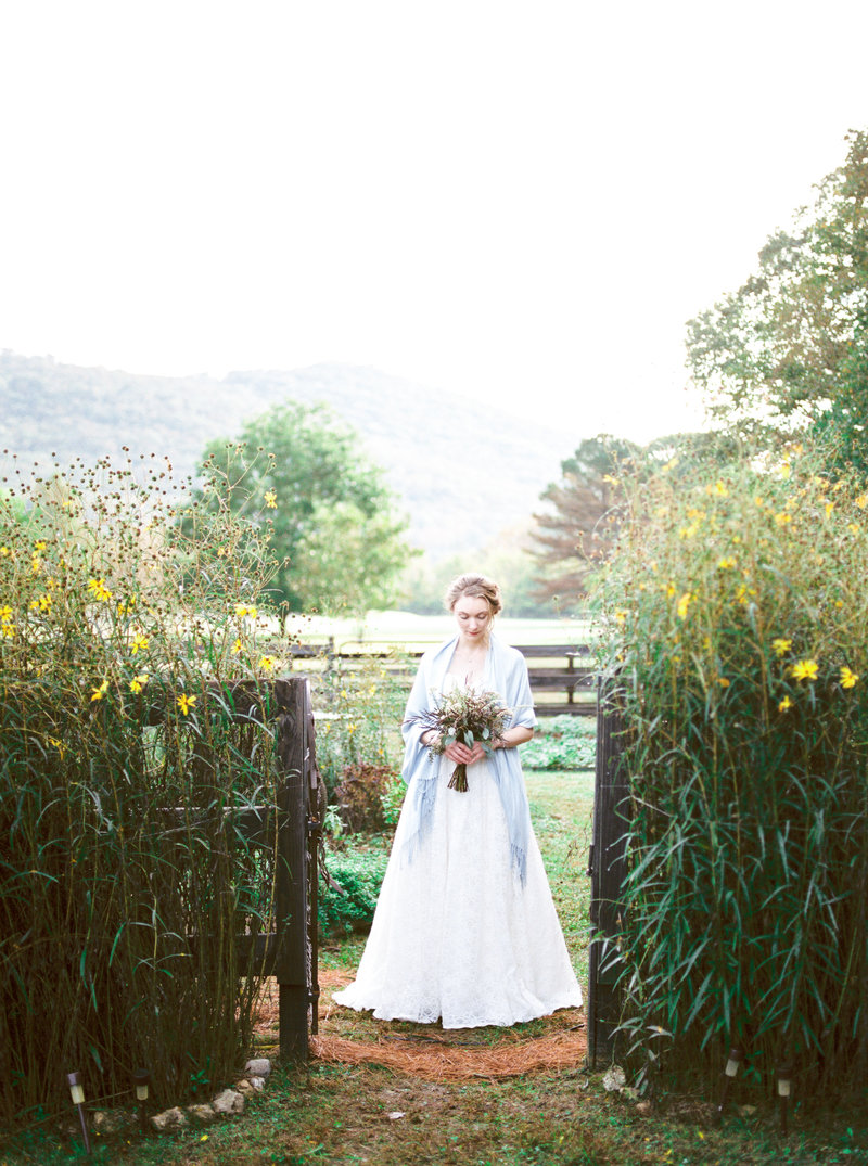 Southern Garden Bride backyard wedding