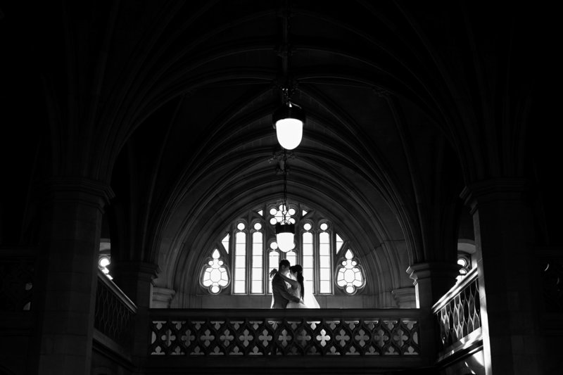wedding portrait at knox college