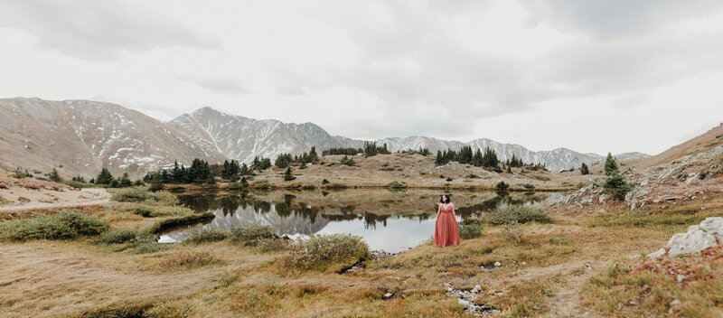 couple on mountain, denver mountain wedding