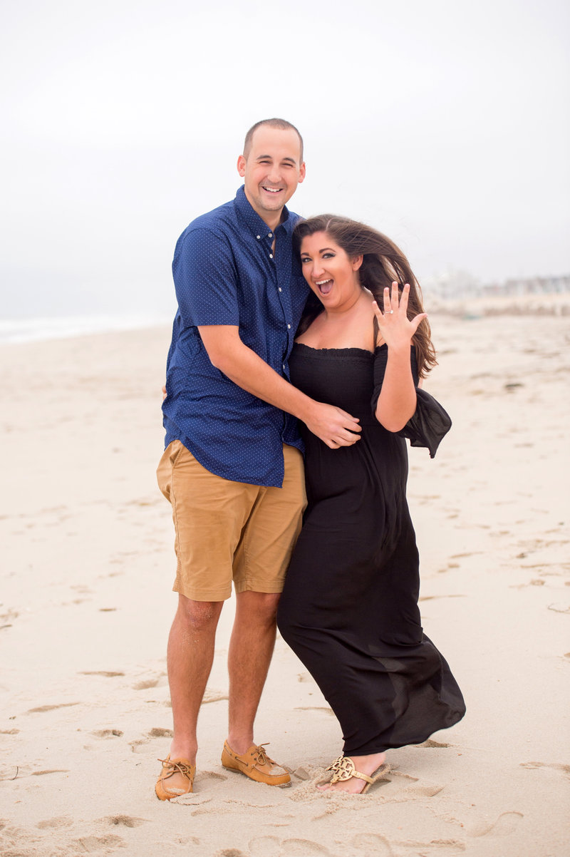 lavallette beach surprise proposal