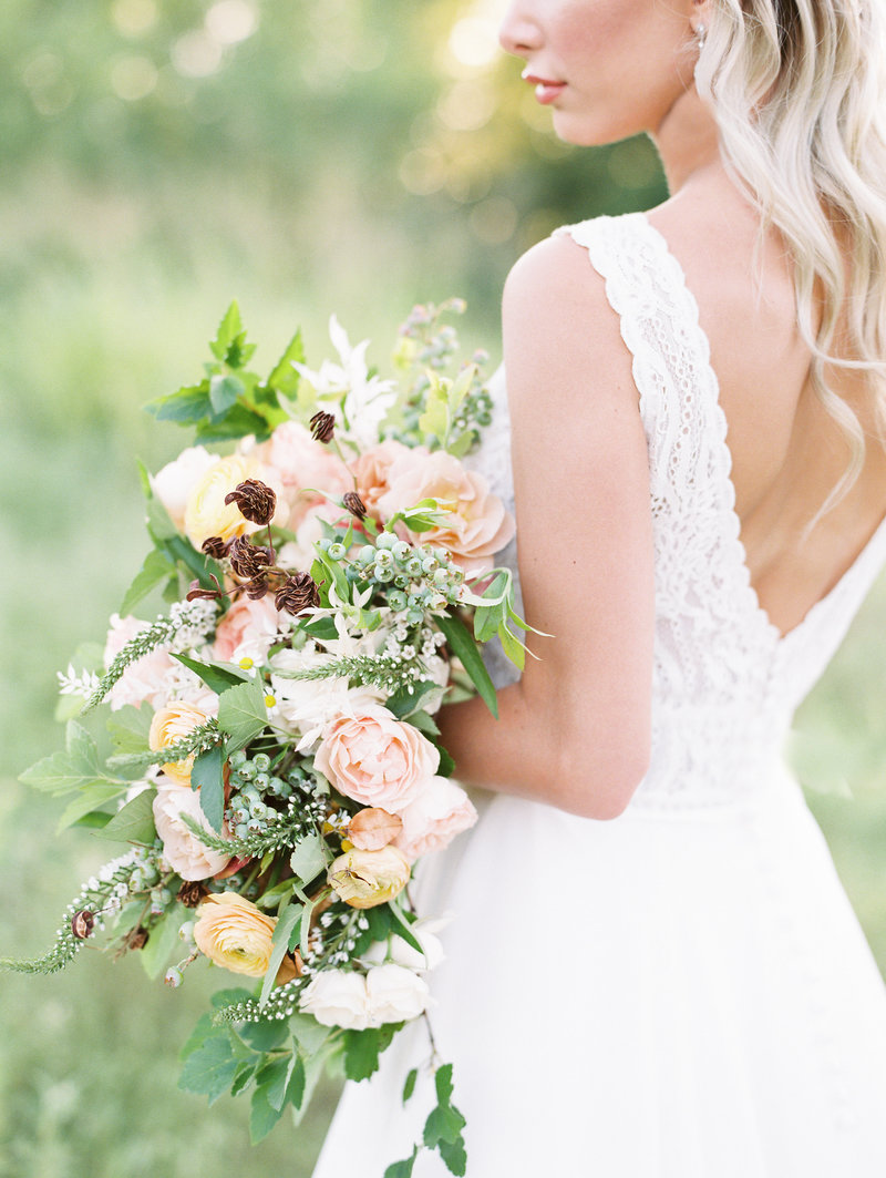 Wildflower Bridal Bouquet, Mission Hills, Kansas