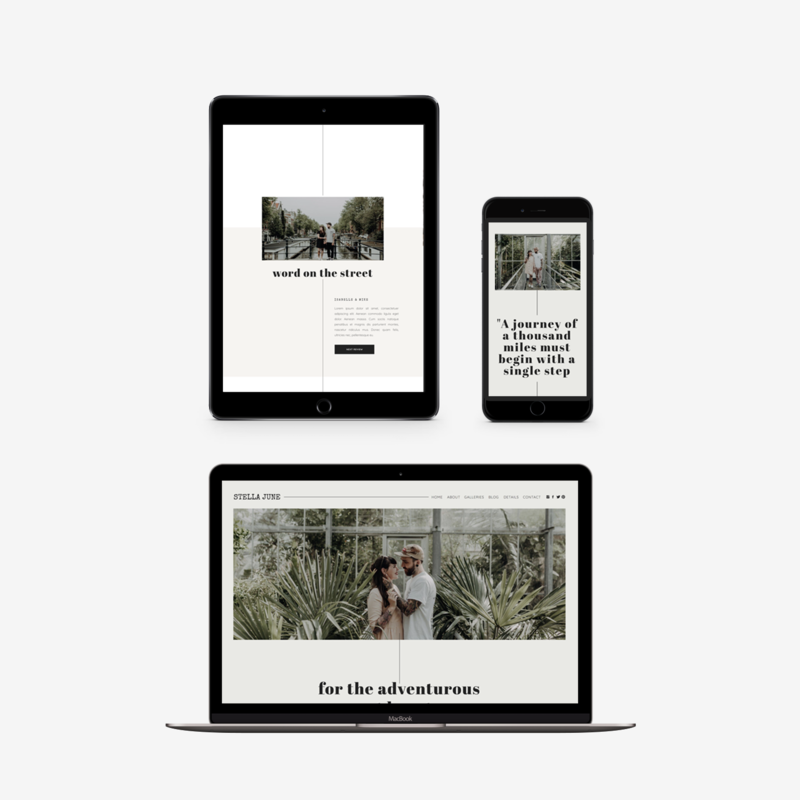 The Roar Showit Web Design Template Stella June Responsive