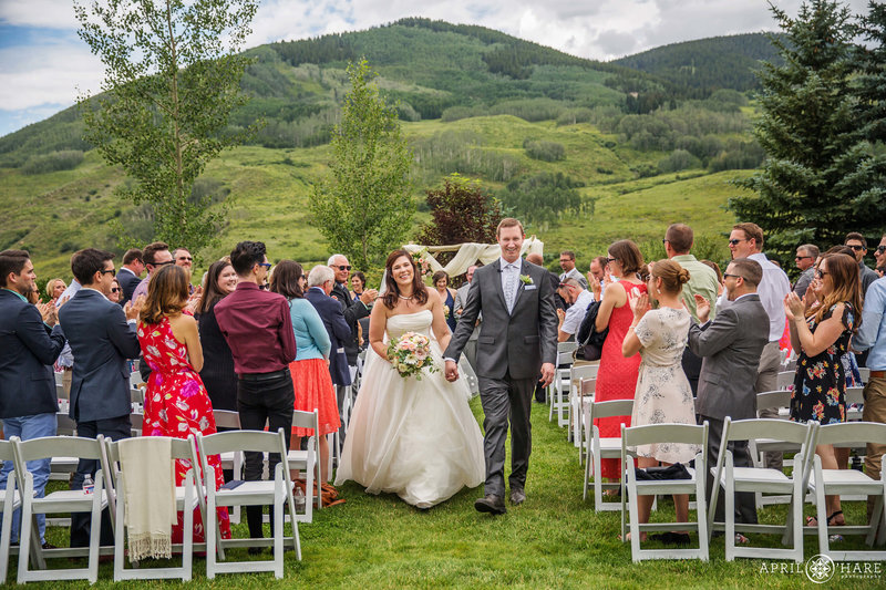 Beautiful outdoor summer wedding at The Mountain Garden Crested Butte CO