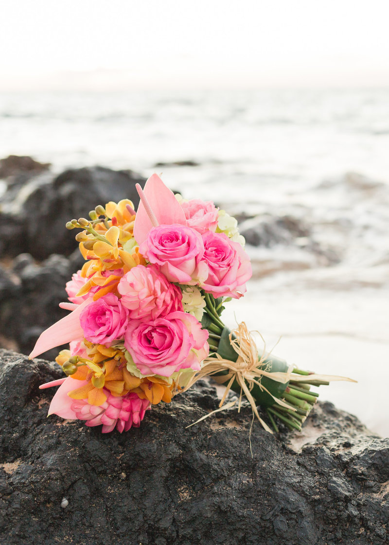 Anuenue Maui Wedding Bouquet floral