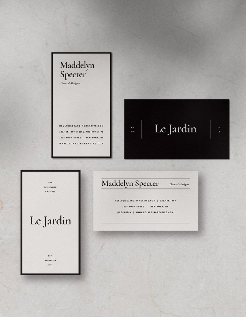 3-Customizable-Stylish-BusinessCard-Design-Jardin-SaffronAvenue2