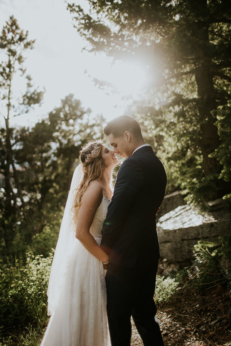 Glacier National Park Sunset Elopement