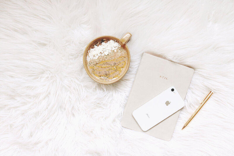 Canva - White Iphone, Gold-colored Pen, and Round Gold-colored Cup
