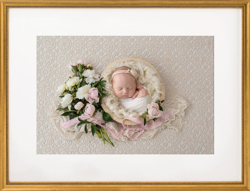 Newborn Photography with flowers | Salt Lake City, Utah