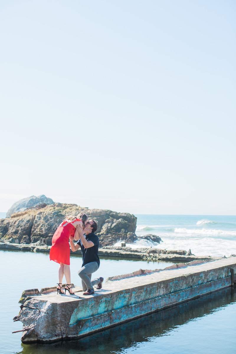 proposal at the Sutro Baths in San Francisco California