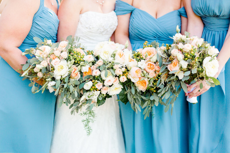 Bridesmaid bouquet photo at a San Francisco wedding