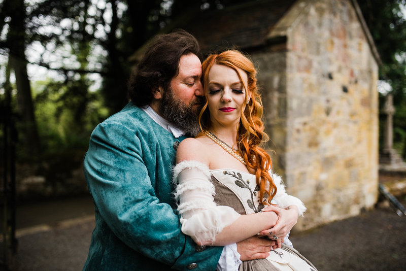 Wolf + Charlena-Outlander-Inspired-Wedding-Old-Glencorse-Kirk-Scotland_Gabby Chapin Photography_Print_0369