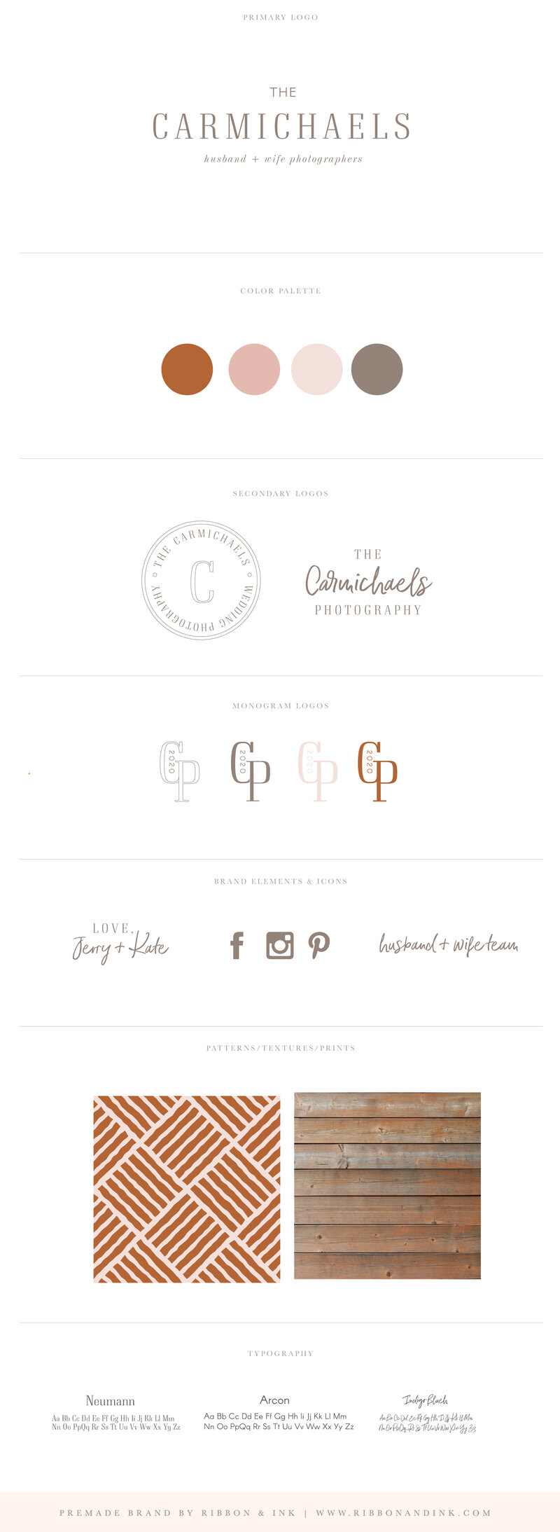 branding-for-creatives-husband-wife-photographer-photography-wedding-brown-neutral-tan-modern-brand-board-identity-Carmichael_BrandBoard_v01