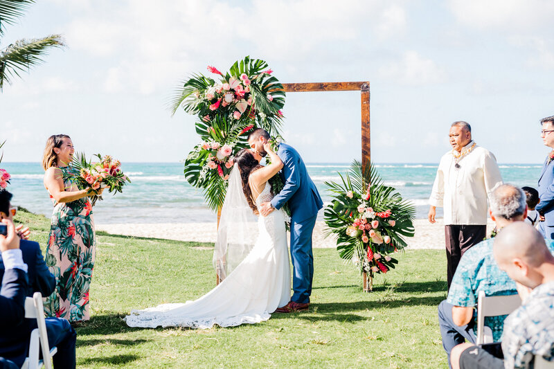 first kiss at  loulu palm in hawaii