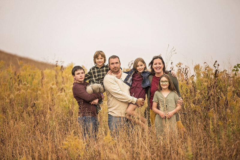 Kansas tallgrass family photo session