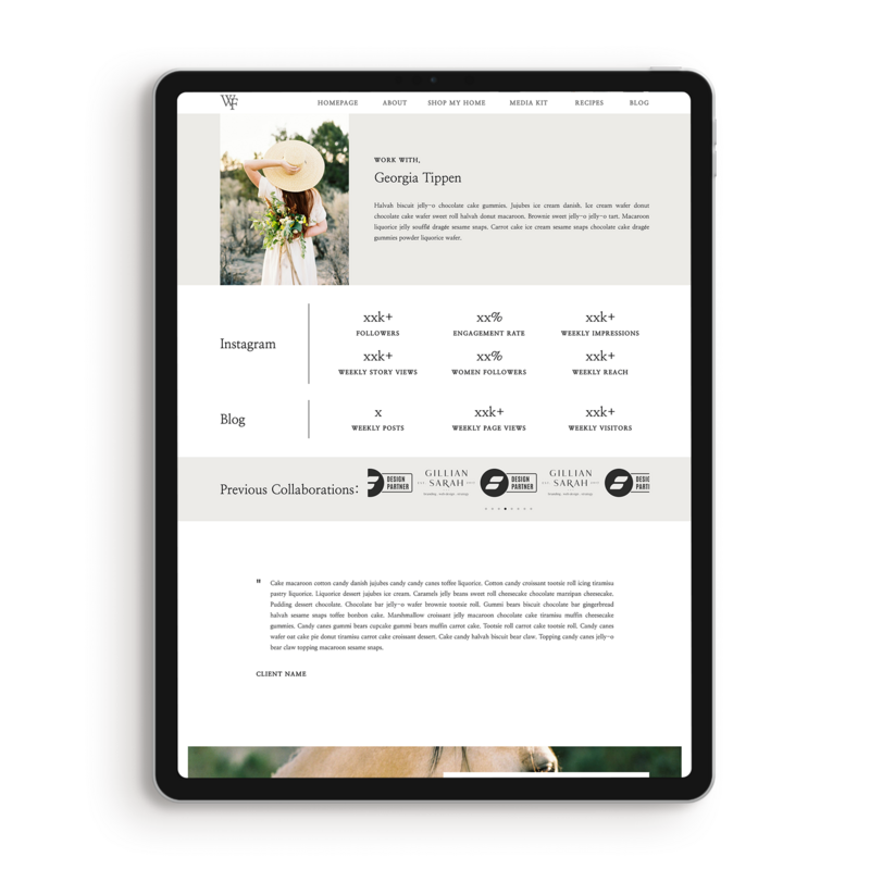 Farmhouse Influencer Website Template Showit