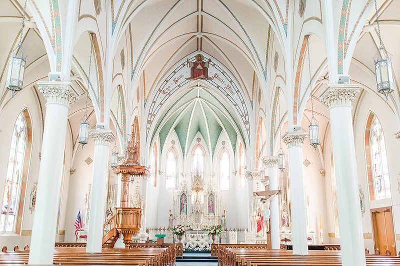 Wedding Ceremony at St Marys catholic church in Fredericksburg Texas and reception at National Museum of the Pacific war Nimitz in fredericksburg Texas Wedding Venue photos by Allison Jeffers Photography_0002