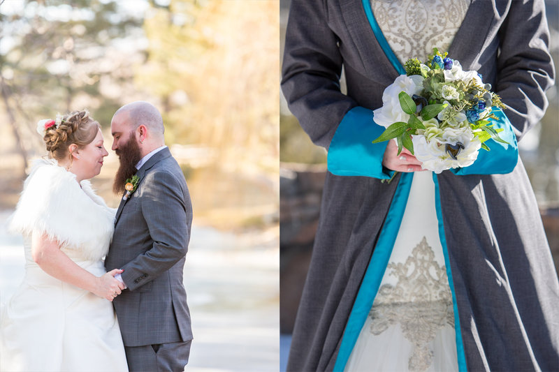 Winter wedding dress capes and shawls