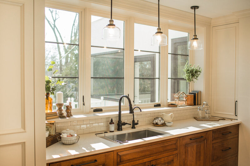 large kitchen window over sink