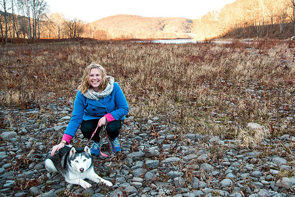 Hiking with Siberian Husky