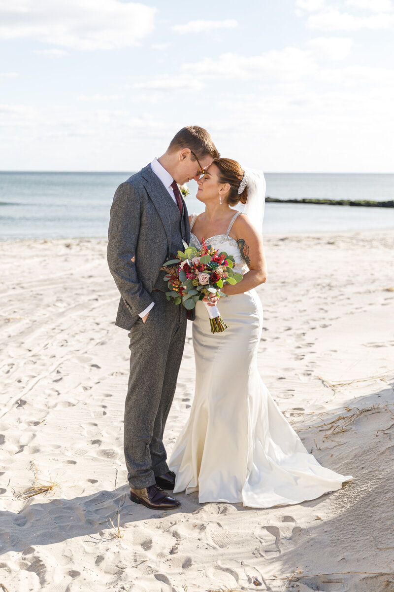married couple on beach in ocean city nj