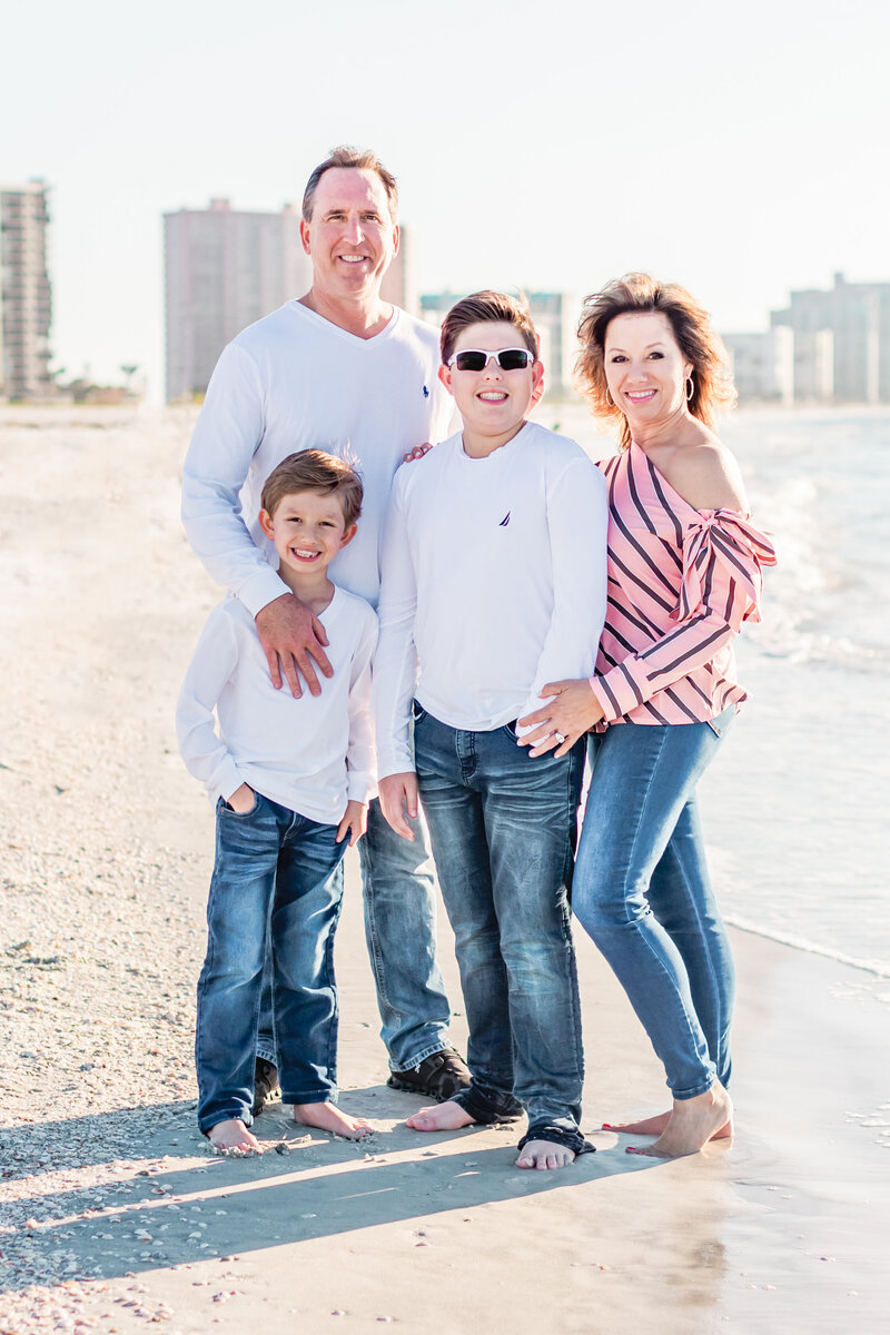 Family on the beach in Clearwater