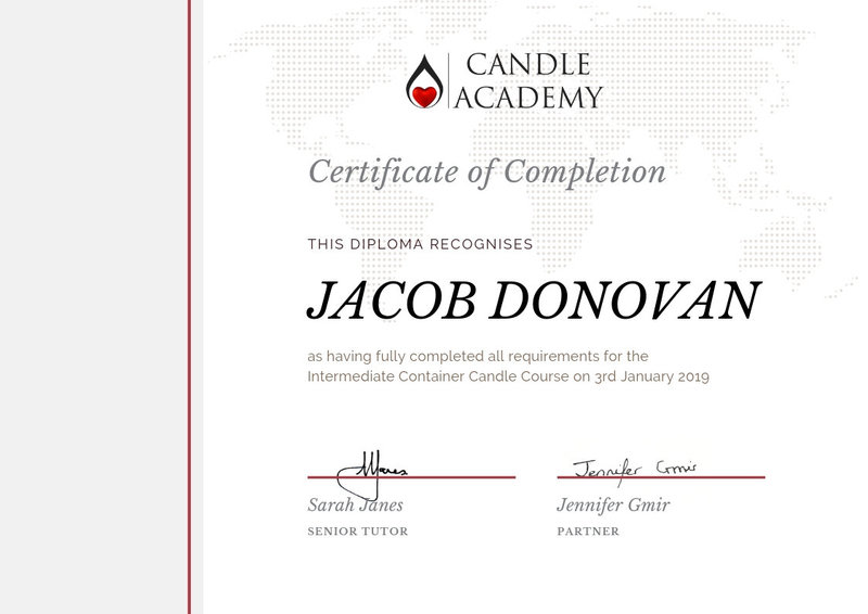 Flame to glory candle certificate