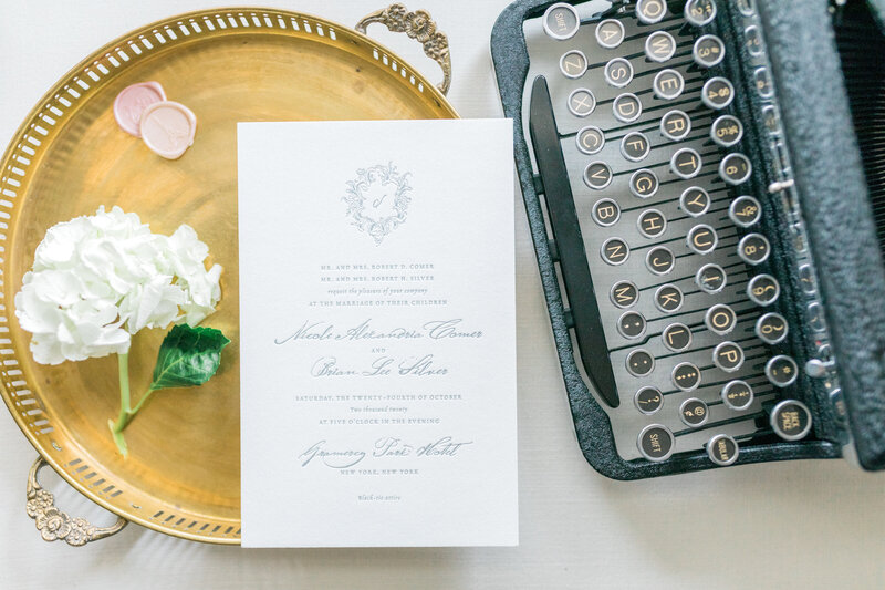 Vintage Styling Details for Wedding Invitations