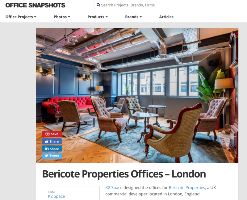 commercial office interior magazine photographers london
