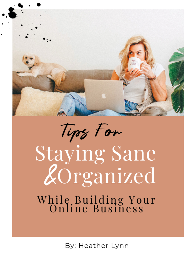 Staying Sane & Organized EBOOK cover