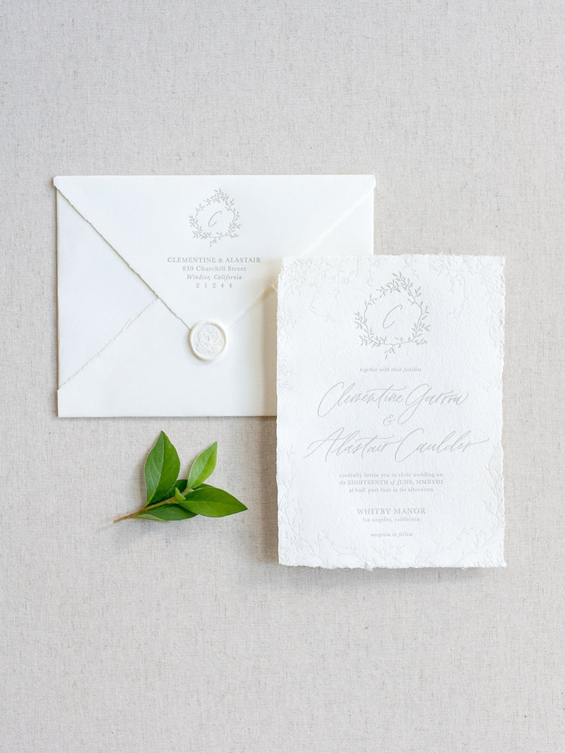Semi-Custom Invitation Collection - Cascading Beauty 2-Piece Set