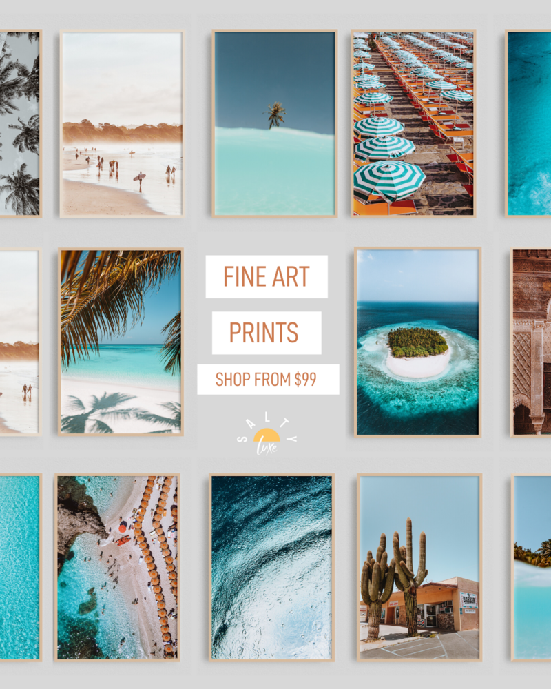 Salty Luxe Prints from �99