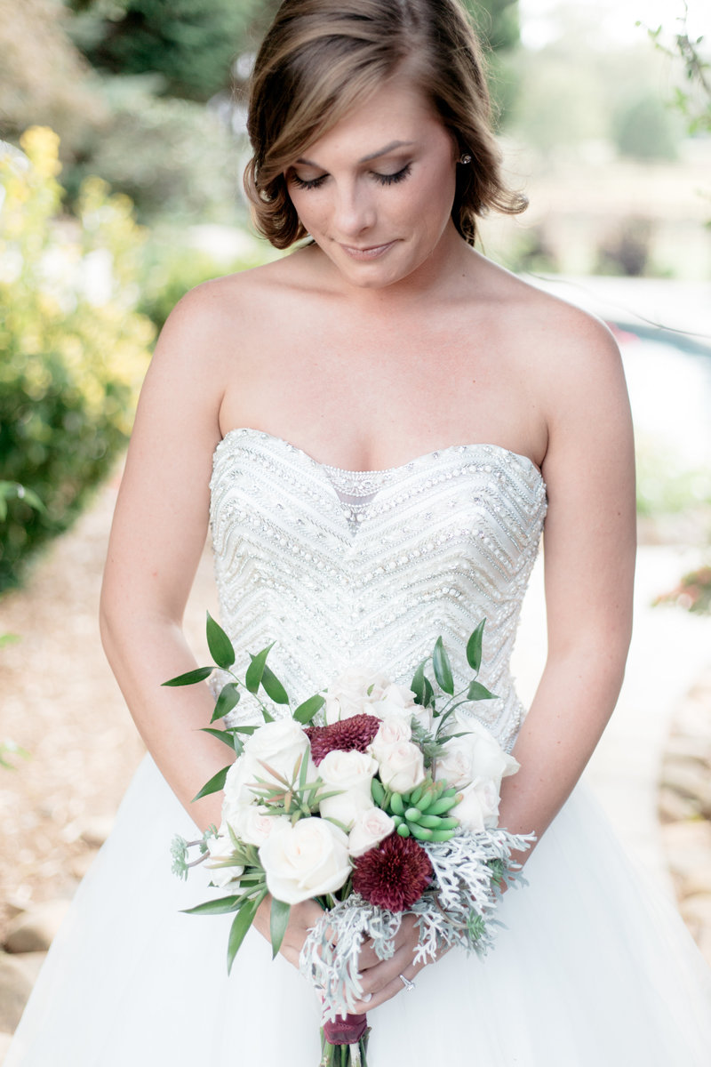 Bridal bouquet at The Venue at Murphy Lane captured by Staci Addison Photography