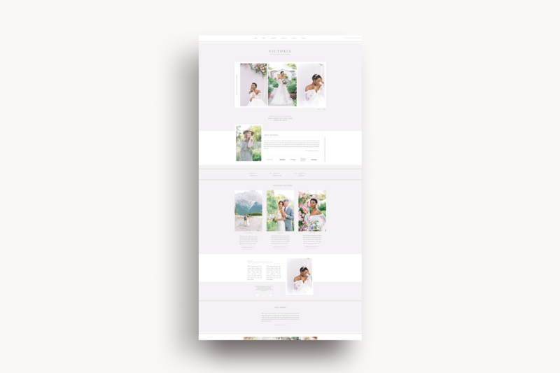 Victoria Showit Template Preview