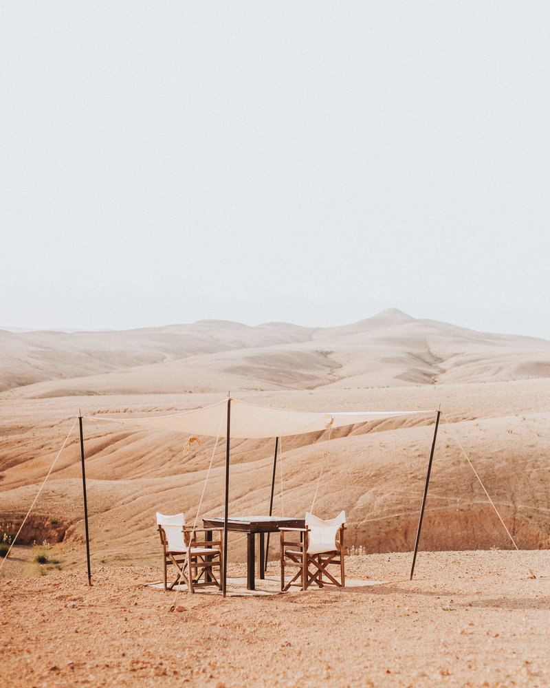 chairs in the desert - in portrait_