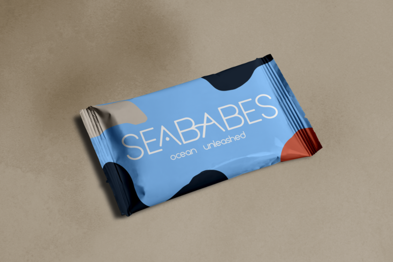 Colorful Snack Packaging done for SeaBabe branding, done by Ile Alafia Design Co. in Miami FL