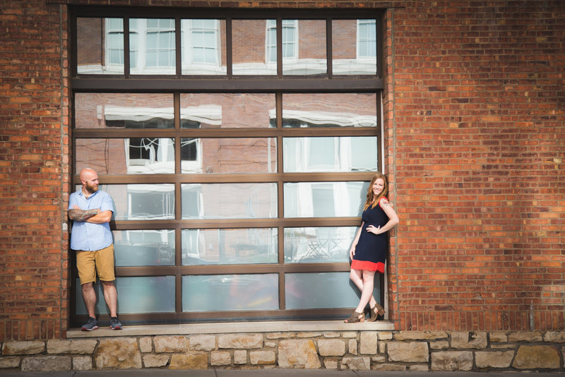 modern Crossroads engagement session