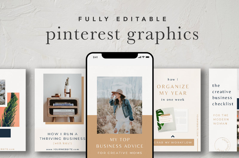 Pinterest Graphics Canva Template Cover Image