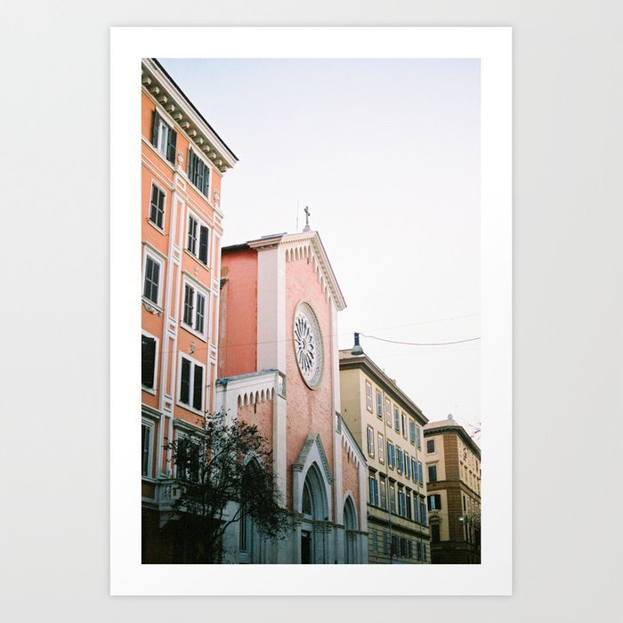 pastel-colored-street-travel-photography-print-rome-italy-pastel-colored-wall-art-prints-2
