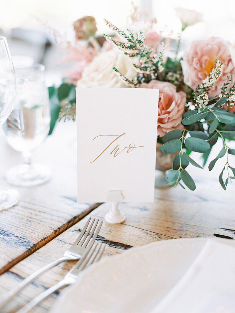 pirouettepaper.com | Wedding Stationery, Signage and Invitations | Pirouette Paper Company | Table Numbers 57