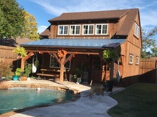 Completed barn renovation with pool