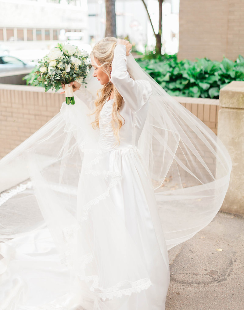 Sioux Falls Bridal Gown Veil Photography