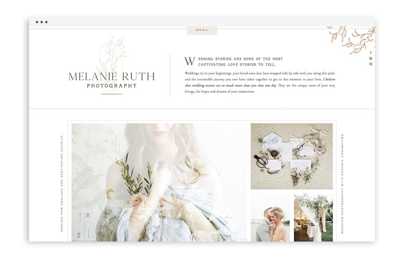 Melanie Ruth Photography - Custom Showit Web Design by With Grace and Gold - Photo - 1