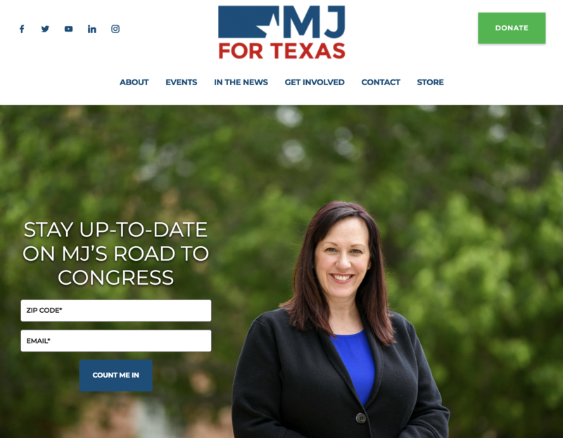 MJ Hegar campaign website