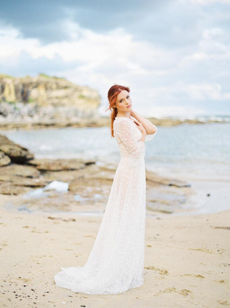 Sydney Fine Art Film Wedding Photographer Sheri McMahon - Sydney NSW Australia Beach Wedding Inspiration-00046