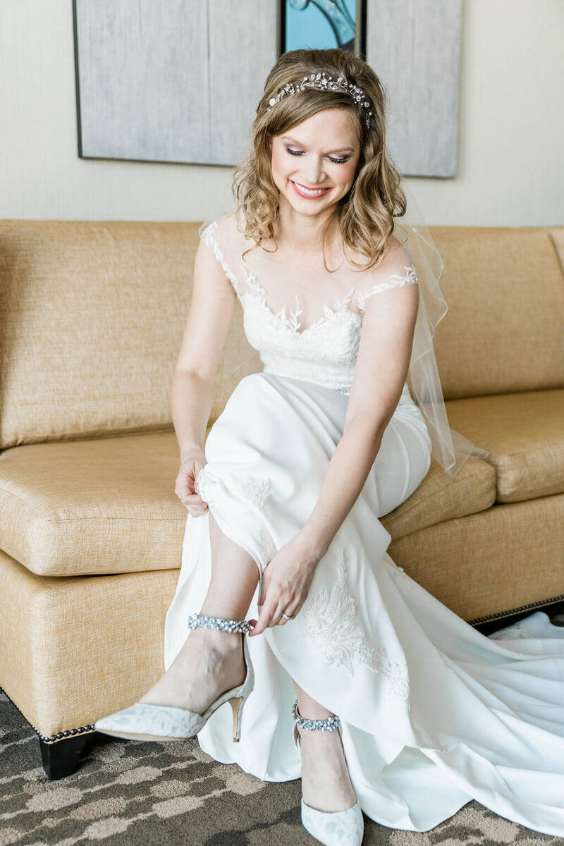 Bride in Kelly Faetanini from Patsy's Bridal Boutique