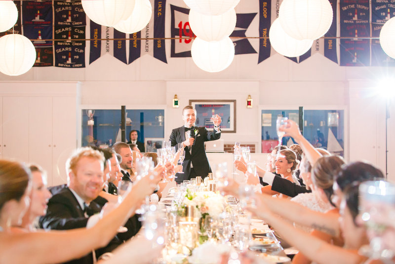 Best man's toast at Bay Head Yacht Club Wedding