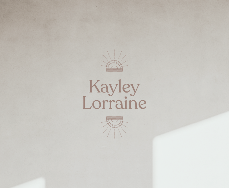 Primary logo design for Kayley Lorraine, an Athens based storyteller.