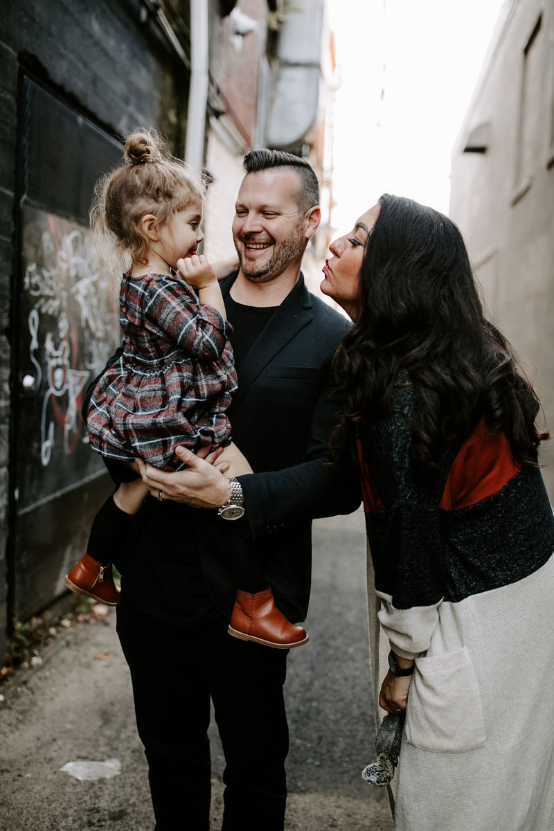 Greg and Misty Damico with Daughter Demia